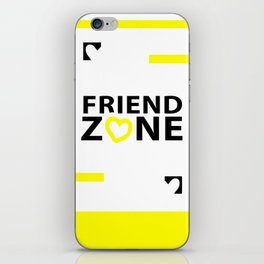 Friendship or Friendzone Love iPhone Skin