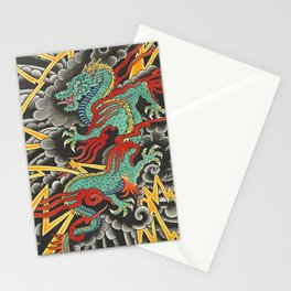 Japanese Dragon Tattoo Art Stationery Cards