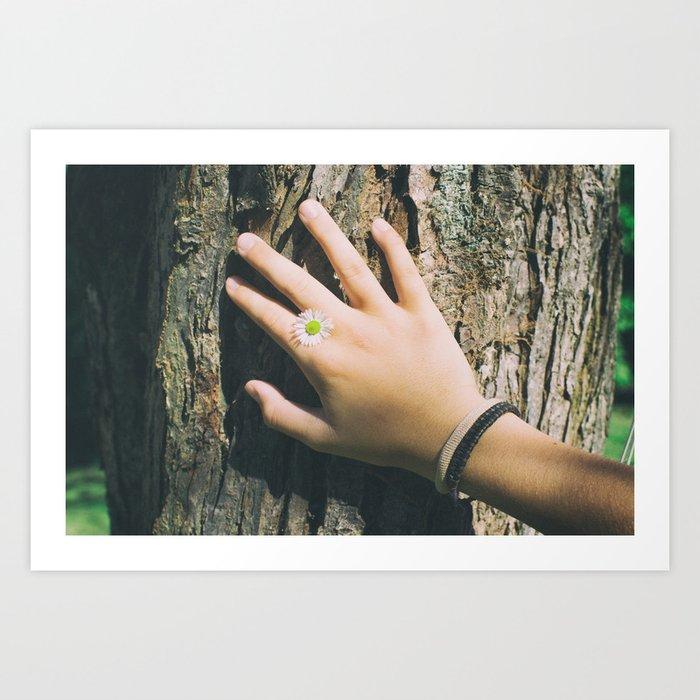 Hand Paquerette Art Print