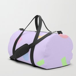 NEON LUNCH - 1980s 1990s inspired pastel neon pattern Duffle Bag
