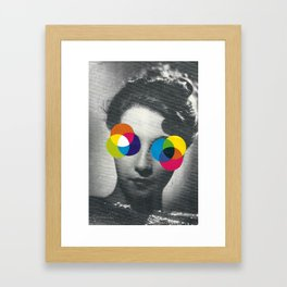 Psychedelic glasses Framed Art Print