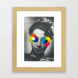 Psychedelic glasses Framed Art Print