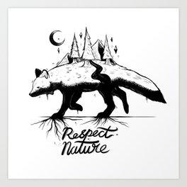 Respect Nature. Art Print