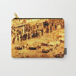 Le Mans 1960 race car and brave people Carry-All Pouch