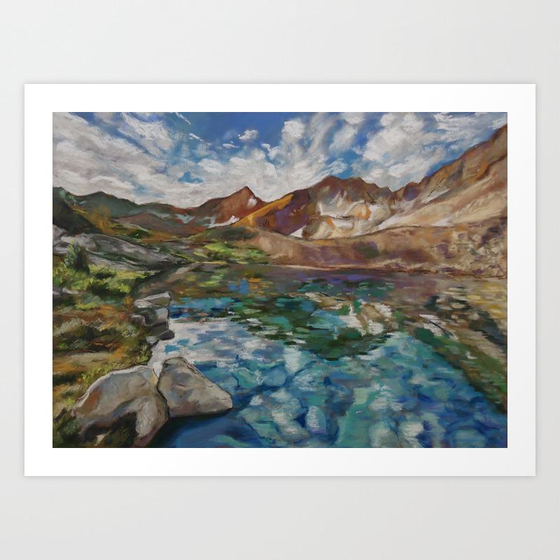 2 Lake Marjorie Sierra Nevada Mountains Art Print By Speierman Society6