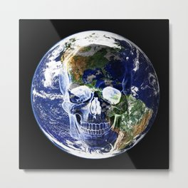 Poisoned Universe-Earth Metal Print