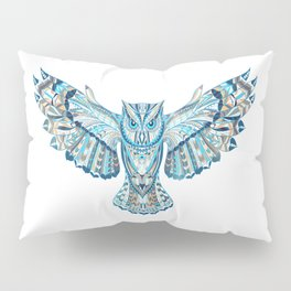 Flying Colorful Owl Design Pillow Sham