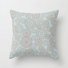 Zig-zag modern geometry circles Throw Pillow
