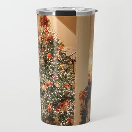 Twinkling Christmas Lights Travel Mug