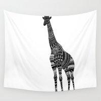 ornate Wall Tapestries featuring Ornate Giraffe by ZantosDesign