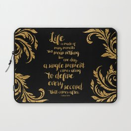 An Ember In The Ashes Quote Design in Gold Foil Laptop Sleeve