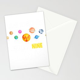 Back In My Day We Had Nine Planets Astronomy Solar System T-Shirt Stationery Cards
