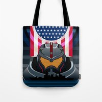 pacific rim Tote Bags featuring Pacific Rim v2 by milanova