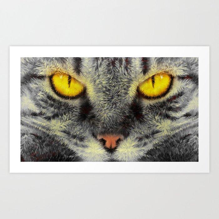 Gato Loco Art Print