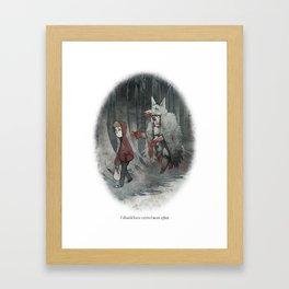 BEHIND YOU 7 Framed Art Print