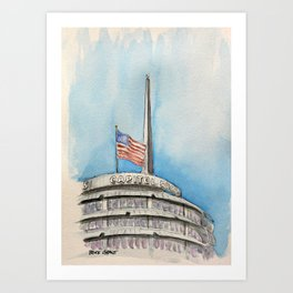 Capitol Records Building Art Print
