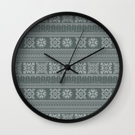 Knitted christmas pattern Wall Clock