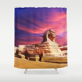 Great Sphinx of Giza, Egypt Shower Curtain