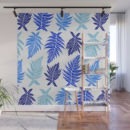 Inked Ferns – Blue Palette Wall Mural