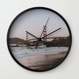 Last Light at Baker Beach in San Francisco Wall Clock