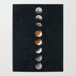 Phases of the Moon II Poster
