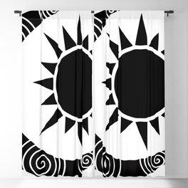 moon and sun Blackout Curtain