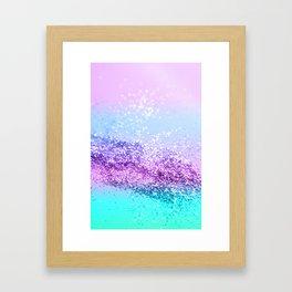 Unicorn Girls Glitter #14 #shiny #decor #art #society6 Framed Art Print
