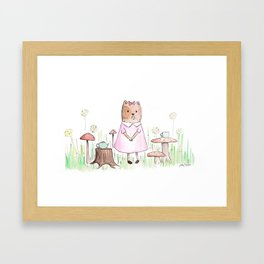 No One Joined Gertie for Tea Framed Art Print