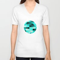 teal V-neck T-shirts featuring Teal by Hannah