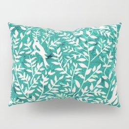 Wonderlust Τurquoise#Birds let's run away Pillow Sham