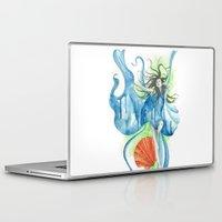 zodiac Laptop & iPad Skins featuring Zodiac - Aquarius by Simona Borstnar