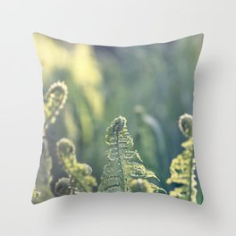 Polypodium vulgare fern plant Throw Pillow