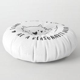 Social Ghoster Floor Pillow
