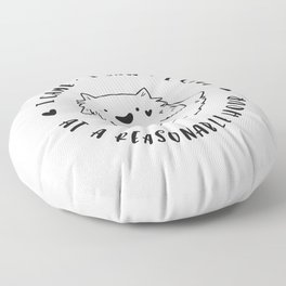 Social Ghoster Floor Pillow