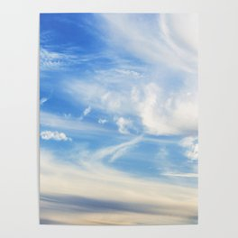 Clouds over Menton France in a summer day Poster