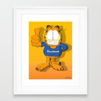 garfield Framed Art Prints featuring GARFIELD by Dano77