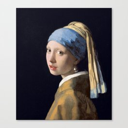 Girl with a Pearl Earring by Johannes (Jan) Vermeer, 1632-1675 Canvas Print