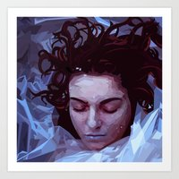 laura palmer Art Prints featuring Laura Palmer from Twin Peaks by Alice Teal