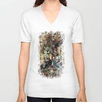 spice V-neck T-shirts featuring Sugar & Spice by Jay Allen Hansen