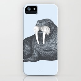 Frank Wallace in Blue | Nursery Art Walrus Drawing iPhone Case