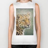 leopard Biker Tanks featuring Leopard by Pauline Fowler ( Polly470 )