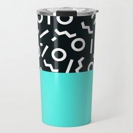 Memphis pattern 48 Travel Mug