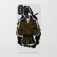 watchmen iPhone & iPod Cases featuring  Rorschach (Watchmen) by  Steve Wade ( Swade)