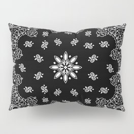 black and white bandana pattern Pillow Sham
