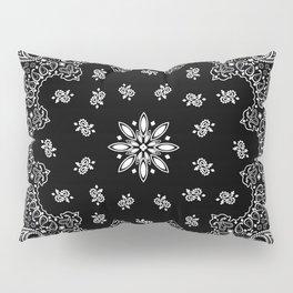 black and white bandana pattern Pillow Sham