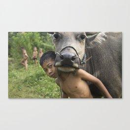 Luang Namtha Boys Canvas Print