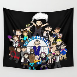 Southern Premier Wrestling Happy Birthday Wall Tapestry