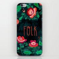 folk iPhone & iPod Skins featuring Folk by Plantus Marina