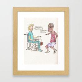 Pick-Up Game Framed Art Print