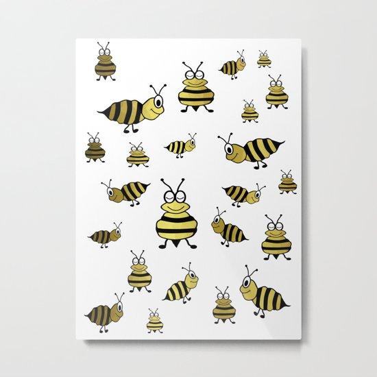 Golden Bees Metal Print